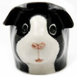 Black and white egg cup