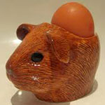 Self red egg cup